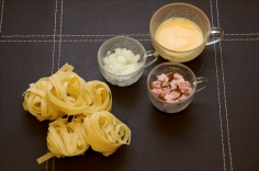 Ingredientes para o Carbonara