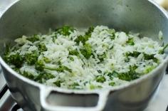 Misture com o arroz