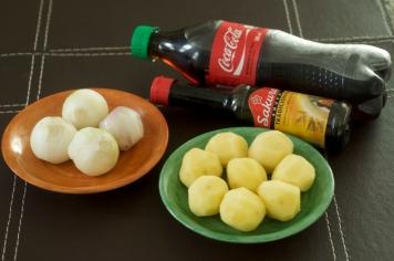 Ingredientes para batata e cenoura