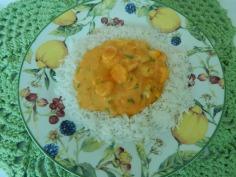 Sirva com arroz