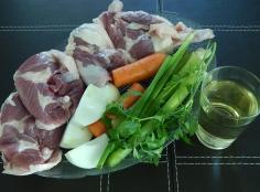 Ingredientes para cozinhar o pato
