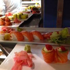 Sashimis e sushis