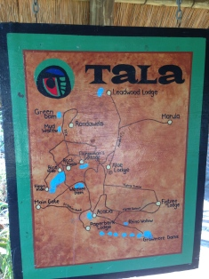 Tala Reserve - mapa