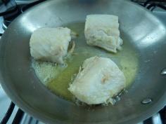 Frite o bacalhau