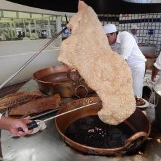 Barbacoa de borrego ( torresmo)