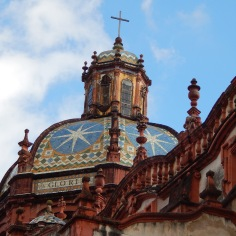 Detalhe da cobertura da igreja