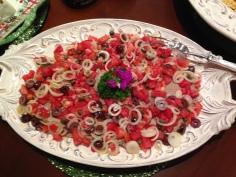 com tomates e alcaparras