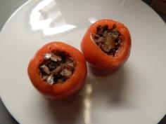 Recheie os tomates