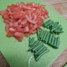 Corte os legumes
