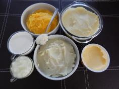 Ingredientes com batatas amassadas