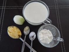 Ingredientes do bechamel