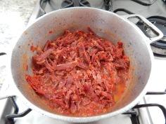 Carne seca já preparada