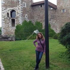 No jardim do castelo