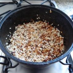 Junte o arroz