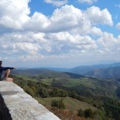 Vista a partir do alto de O Cebreiro