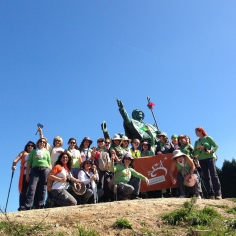 Turma das Caminhantes no Monte do Gozo