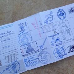 Passaporte do peregrino - tem que andar no mínimo 100 km para ter um desses
