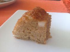 Fatia do bolo com coco