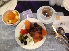 Café da manhã no Radisson