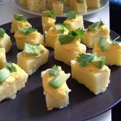 Canapé com queijo