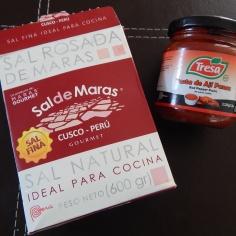Sal de Maras peruano e pasta de ají panca