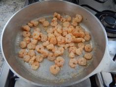 Camarões fritos