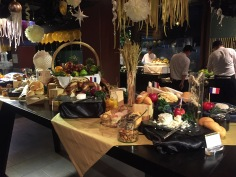 Buffet de Reveillon do Royal Orchid Sheraton Hotel de Bangkok