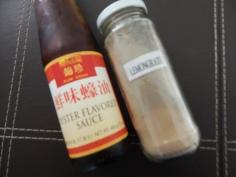 Molho de ostra e lemongrass