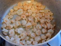 Frite os camarões