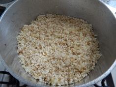 Frite o arroz