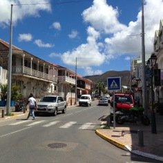 Rua típica de Saint Thomas